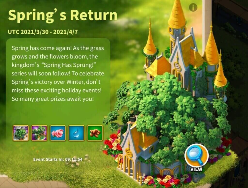 Spring's Return Event