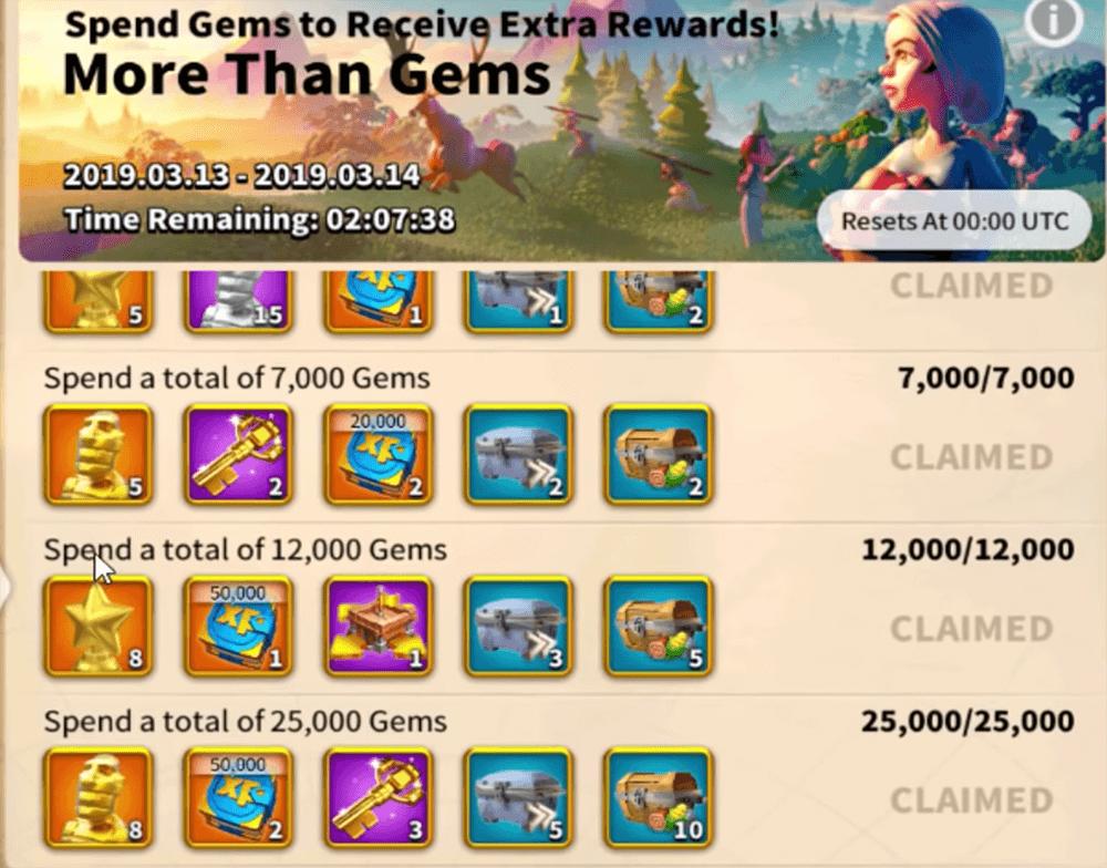more than gems reward