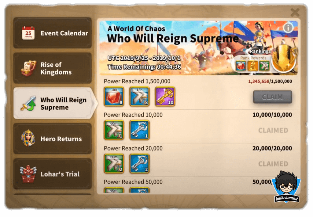 who will reign supreme event