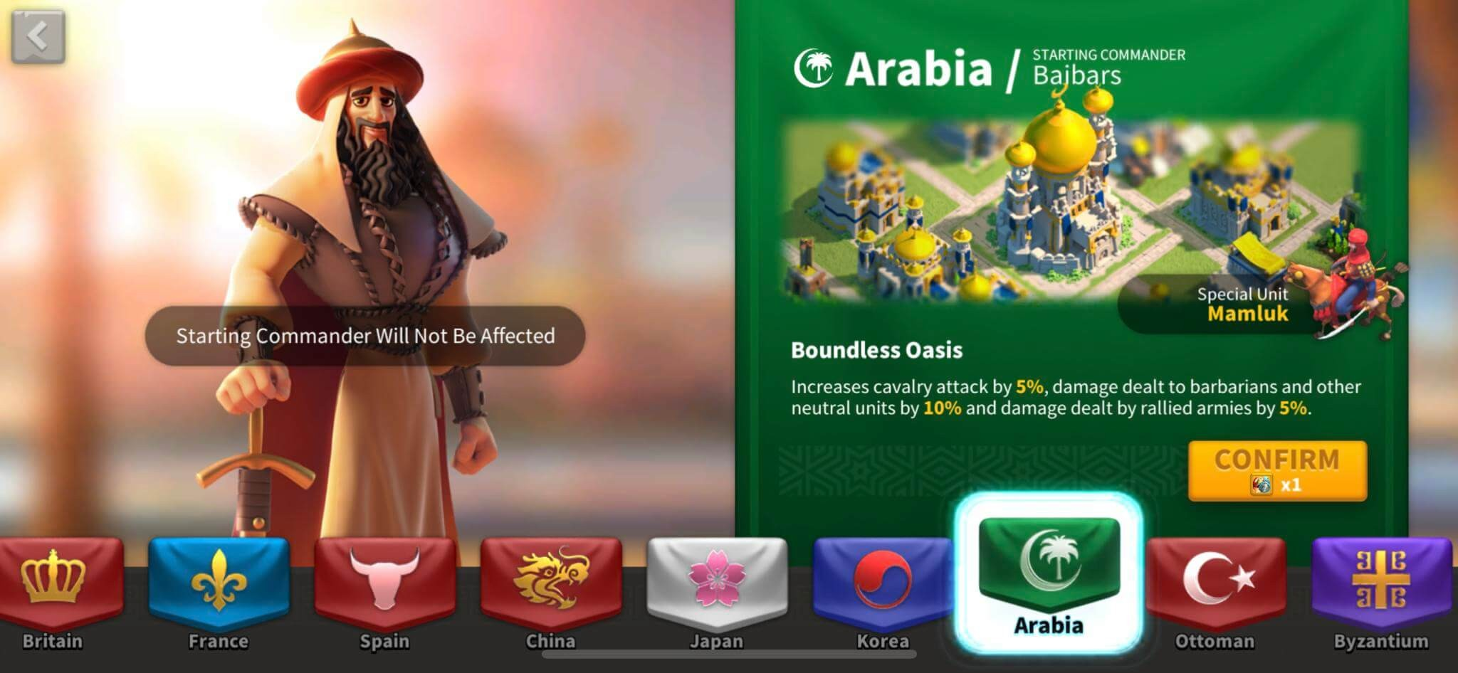 rise of kingdoms arabia
