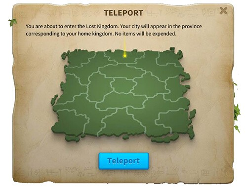 teleport to the lost kingdom