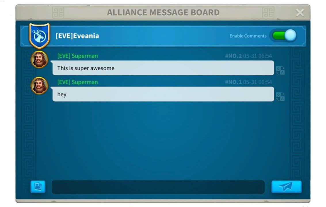 alliance message board