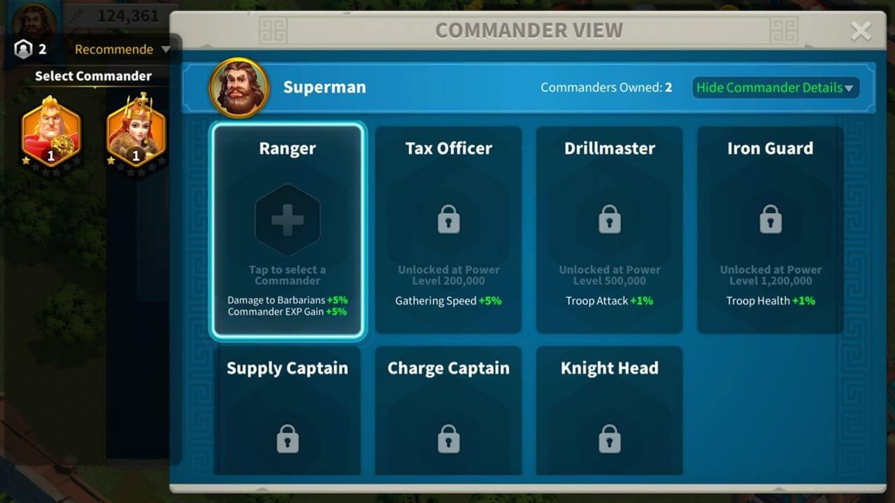 commander view