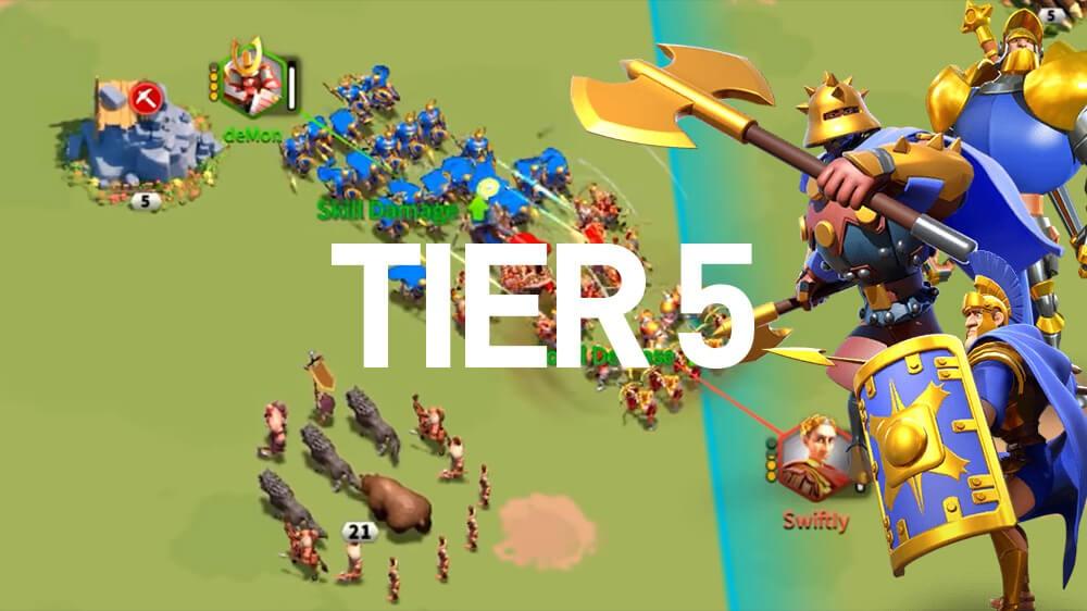 tier 5 troop rise of kingdoms
