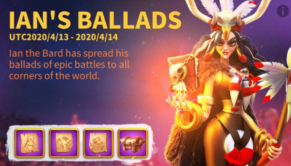 Ian's Ballads Event Rise of Kingdoms