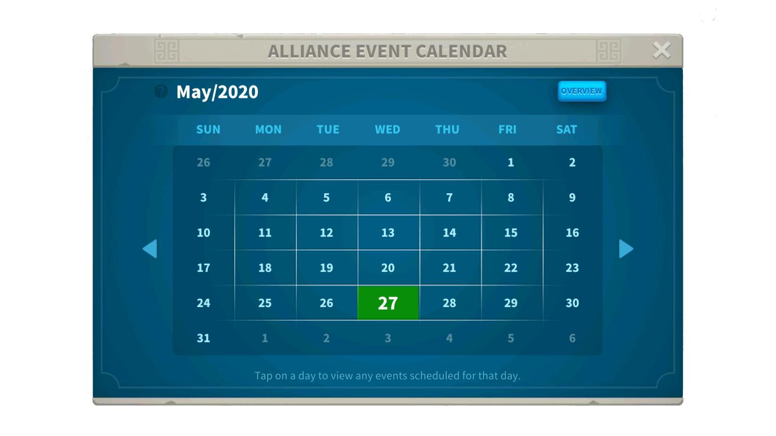 Alliance Event Calendar