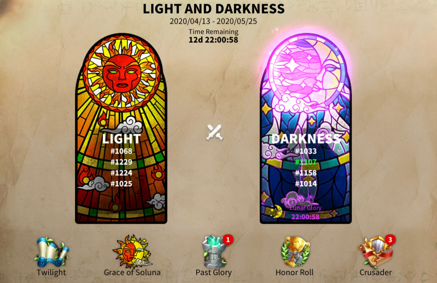 Light and Darkness Rise of Kingdoms
