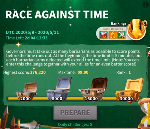 Race Against Time Event Guide