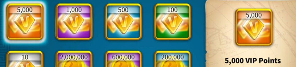 vip points Rise of Kingdoms