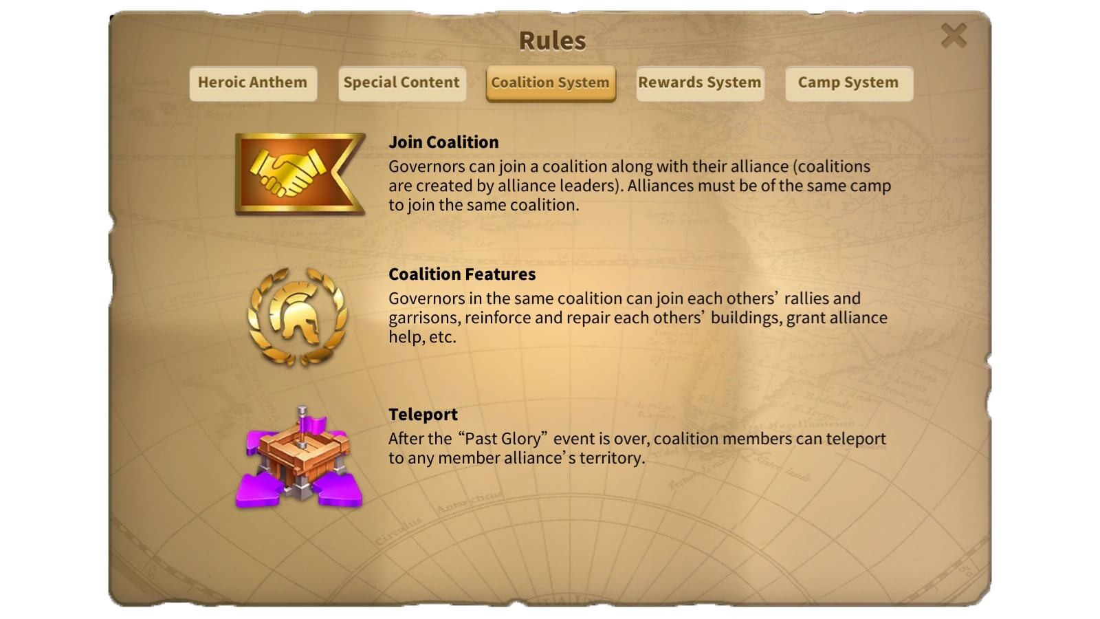 Combine your actions for the glory of your coalition!