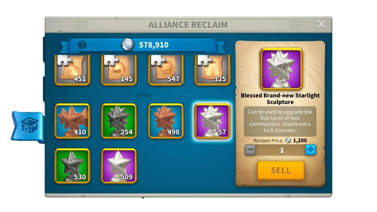 alliance reclaim