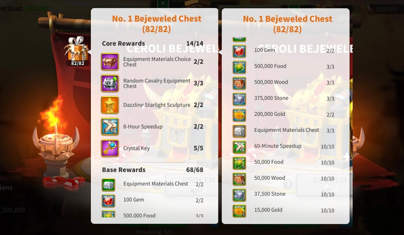 Ceroli Assault Event Rewards 2