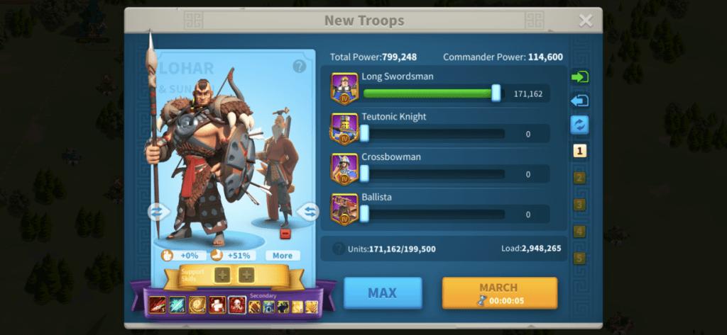 new commander support skills