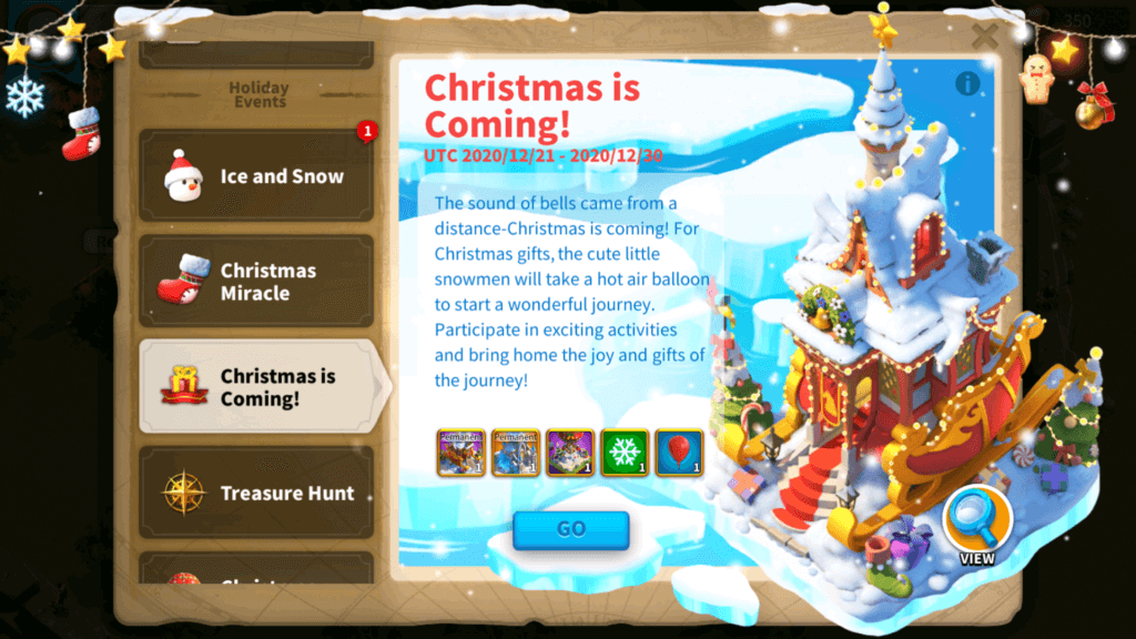 christmas is coming Rise of Kingdoms