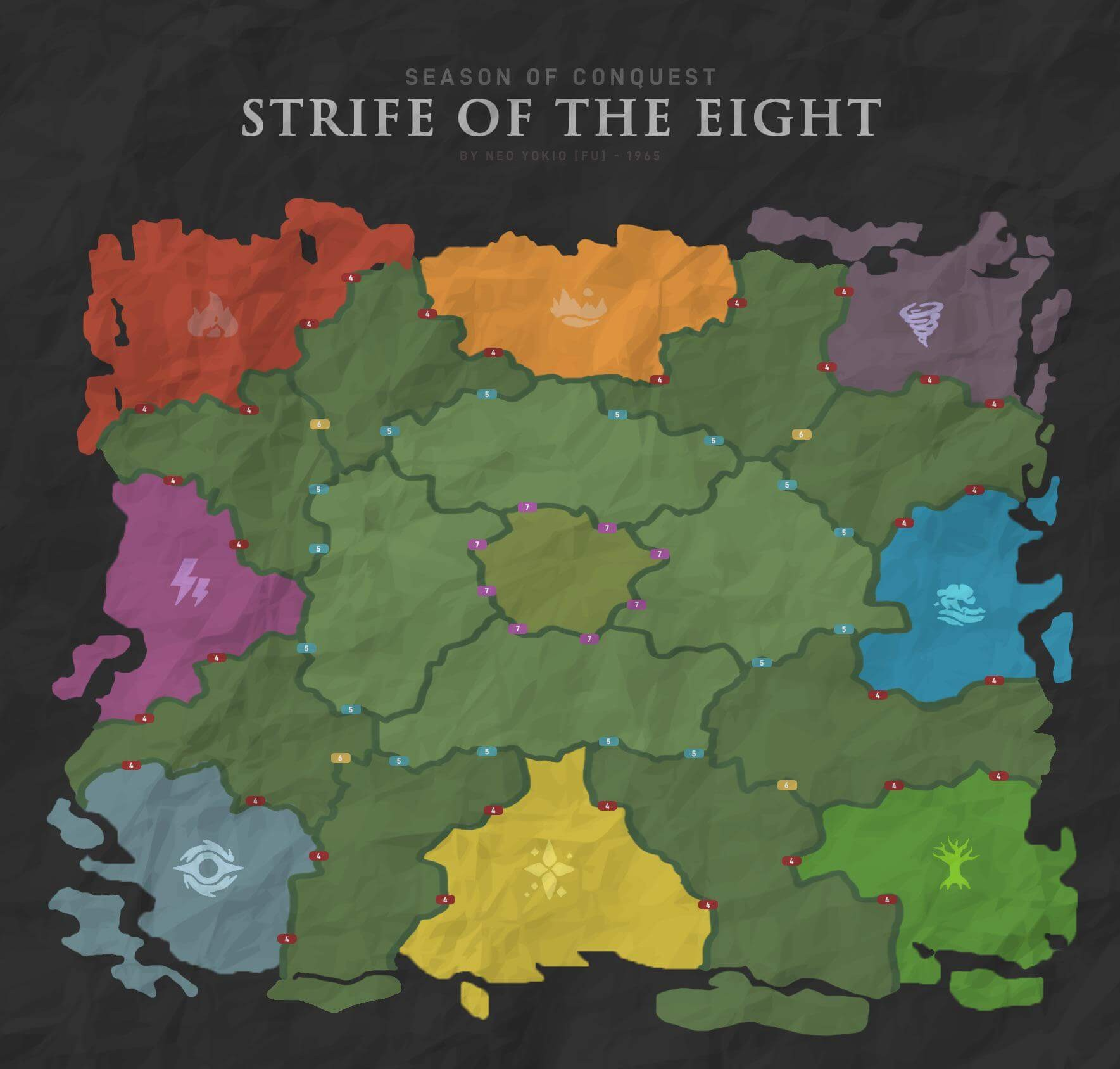 ROK Strife of the Eight Map