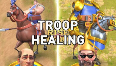 Rise of Kingdoms troop healing