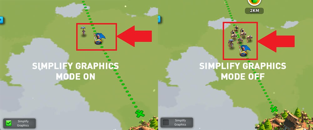 Simplify Graphics mode Rise of Kingdoms