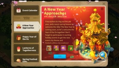 a new year approaches event