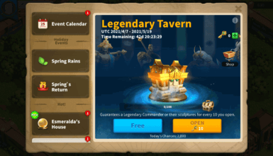 Legendary Tavern Event Guide