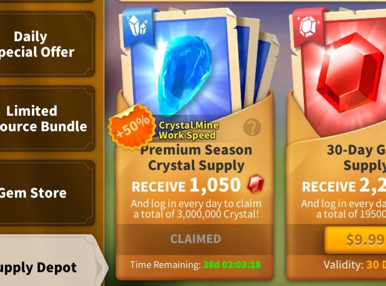 Premium Season Crystal Supply